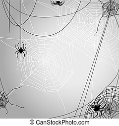 Background with spiders