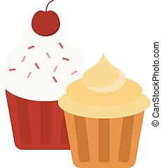 Cake isolated vector icon - Sweet cake isolated on white....