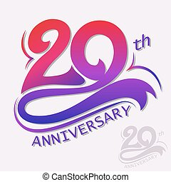 Anniversary Design, Template celebration sign - 20th Years...