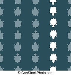Vector seamless turtle pattern - Vector seamless colorful...