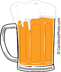 Beer mug - Cartoon illustration of a big beer mug