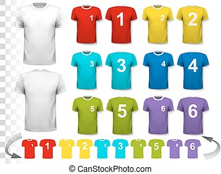 Collection of various soccer jerseys with numbers