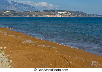 Xi Beach, Kefalonia - amazing pamorama of Xi Beach,beach...