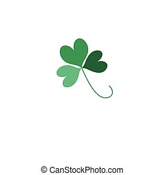 Green Shamrock leave icon isolated on background. Happy...