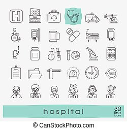 Collection of medical icons.