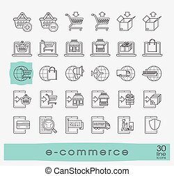 Collection of icons for online shopping. - Premium quality...