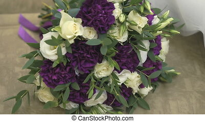 Wedding bouquet of bride with roses