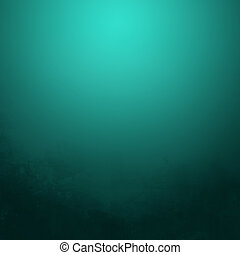 Abstract grunge background - Turquoise color gradient...