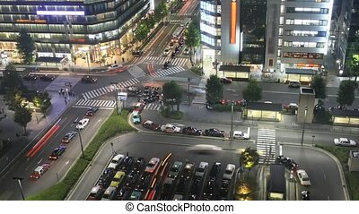 Time lapse Kyoto - Time lapse street nightlife at main...