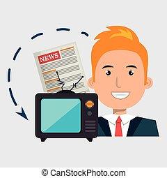 man tv reportage news