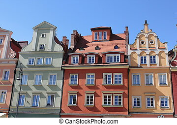 Architecture of Wroclaw, Poland, Europe. City centre,...