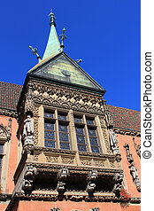Details of historical City Hall in Wroclaw, Poland.