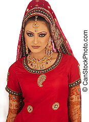 Beautiful young Asian Bride - Photo of an Asian beauty...