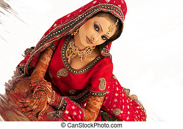Beautiful Bangali Bride Sitting