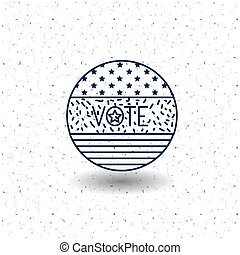 Isolated flag circle of vote concept - flag circle icon....