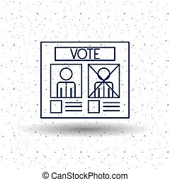 Isolated paper card of vote concept - Paper card icon. Vote...