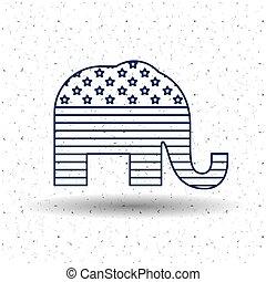 Isolated elephant of vote concept - Elephant icon. Vote...
