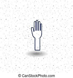 Isolated hand of vote concept - Hand icon. Vote election...