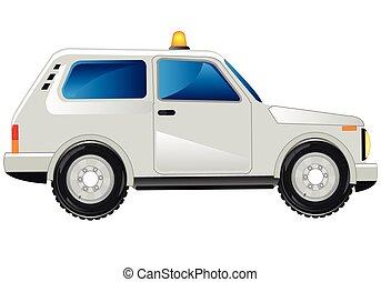 White passenger car