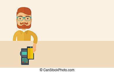 Internet shopping with smartphone - A credit card machine...