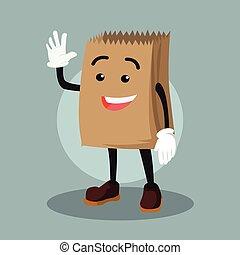 grocery bag vector illustration design