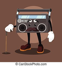 radio ilustration vector illustration design