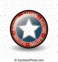 Isolated star button of vote concept - Star inside button...