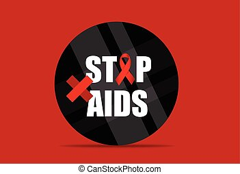 World AIDS Day 1st December World Aids Day poster Vector...