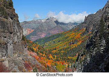 Hayden mountains near Ouray, Colorado