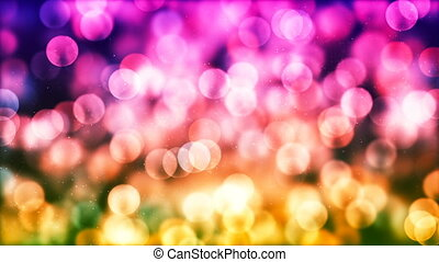 HD Loopable Background with nice colorful glowing bokeh