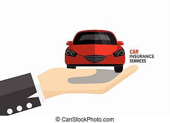 Car insurance business service Vector illustration concept...