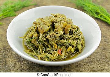 Bamboo shoot spicy salad, thai food