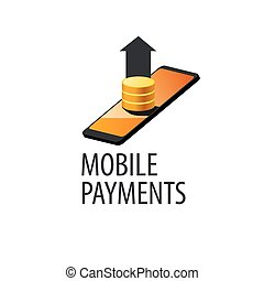 logo mobile payments - mobile payment logo design template....