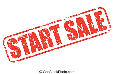 START SALE red stamp text on white