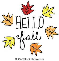 Hello Fall Leaves
