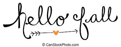 Hello Fall Love Heart Arrow