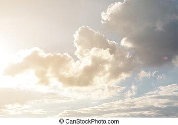 雲, 天空, 天, 陽光