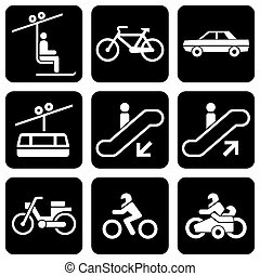 icons transport - set of vector icons to transport theme