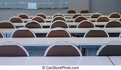 Preparing of conference room in university