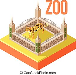 Zoo Leopard isometric icon - Vector image of the Zoo Leopard...