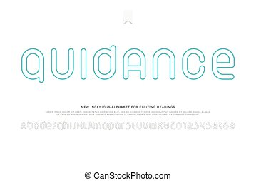guidance - set of stylish alphabet letters and numbers...