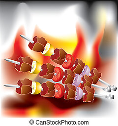 barbecue - Vector image on the Barbecue theme