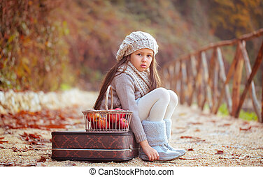 Beautiful girl and apples. - Beautiful girl with an old...