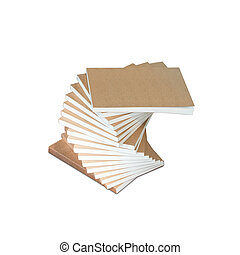 Stack of books isolated on the white background with clipping path
