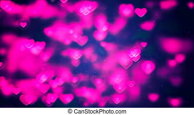 HD Loopable Background with nice pink hearts