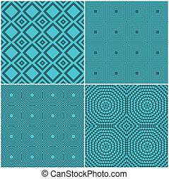 Seamless tile retro backgrounds - Collection of four...
