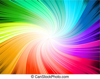Rainbow swirl - Rainbow coloured swirl background