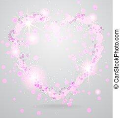 Shining heart background