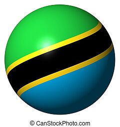Tanzania flag sphere illustration - Tanzania flag sphere...