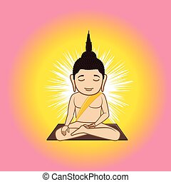 Gautama Buddha Vector Illustration